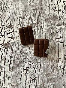 Náušnice - cokoladky napichovacky (vačšie) - 11449527_