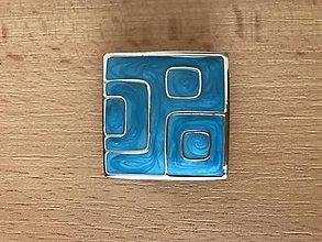 Iné šperky - Modrý prívesok - 11452368_