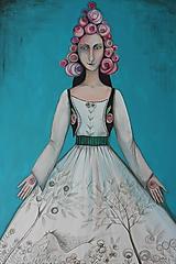 Obrazy - Lady v tyrkyse - 11453238_