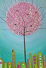 Obrazy - Strom v meste - 11453320_