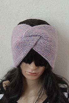Čiapky - TWiST čelenka... alpaka & merino... levaduľová - 11451509_