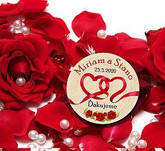 Darčeky pre svadobčanov - Svadobná magnetka - 11452408_