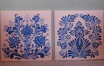 """Obrázky - Obrázky """"Modrý ornament"""" - 11453023_"""