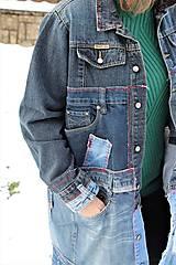 """Kabáty - kabát """"recy-jeansový"""" - 11451812_"""