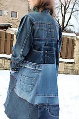 """Kabáty - kabát """"recy-jeansový"""" - 11451820_"""