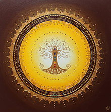 Obrazy - STROM ŽIVOTA (brown II.) 50 x 50 - 11452836_
