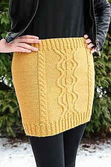Sukne - Žltá sukňa midi - 11453326_
