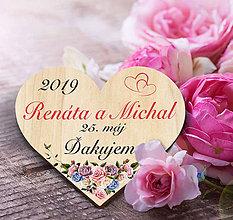 Darčeky pre svadobčanov - Svadobná magnetka - 11456262_
