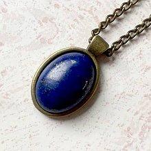 Sady šperkov - Lapis Lazuli & Bronze Set / Set šperkov s lazuritom v bronzovom prevedení (Náhrdelník) - 11454892_