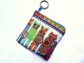 Taštičky - Color Cats ... kľúčenka - 11456904_