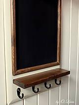 Tabuľky - Kriedová tabuľa s vešiakmi - RODINA - 11455732_