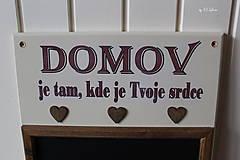 Tabuľky - Kriedová tabuľa s vešiakmi - DOMOV - 11455824_