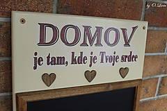 Tabuľky - Kriedová tabuľa s vešiakmi - DOMOV - 11455828_