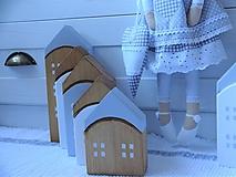 Dekorácie - Domčeky - sada 7 kusov - 11454720_