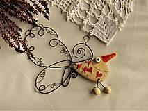 Dekorácie - Vtáčik - 11454635_