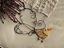 Dekorácie - Vtáčik - 11454649_