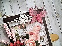 Papiernictvo - Ružová záhrada pohľadnica - 11454738_