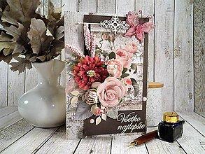 Papiernictvo - Ružová záhrada pohľadnica - 11454734_