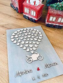 Dekorácie - Svadobná motorka - svadobný strom - 11454693_