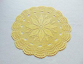 Úžitkový textil - Žltá háčkovaná dečka - 11454822_