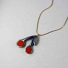 Náhrdelníky - TANA hand made jewellery - keramika/zlato - 11454695_