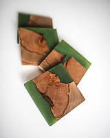 Pomôcky - Živicové podšálky z bukového dreva Green Four - 11457184_
