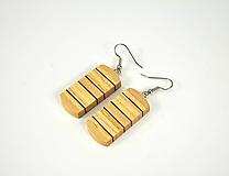 Náušnice - Náušnice dreverné - chirurgická oceľ, javor, jaseň, mahagón... - 11454544_