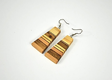 Drevené náušnice  - chirurgická oceľ, jaseň, dub, jelša, mahagón...
