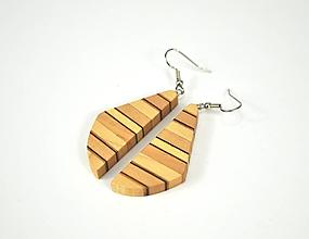 Náušnice - Náušnice drevené - chirurgická oceľ, javor, jelša, mahagón... - 11455498_