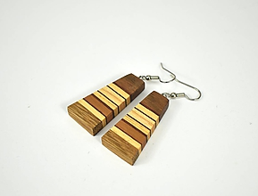 Náušnice - Náušnice drevené - chirurgická oceľ, orech, dub, jaseň, mahagón... - 11455533_