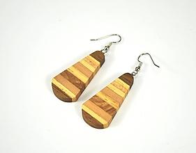 Náušnice - Náušnice drevené - chirurgická oceľ, orech, dub, buk, jelša, mahagón... - 11456909_