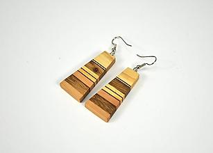 Náušnice - Náušnice drevené - chirurgická oceľ, jaseň, dub, jelša, mahagón... - 11457010_