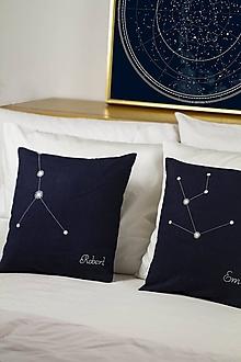 """Úžitkový textil - Perzsonalizovaný set obliečok na vankúše - Znamenia """"svieti v tme"""" (40x40cm - Modrá) - 11454498_"""