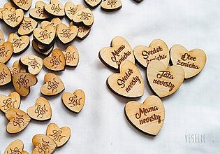 Pierka - Srdiečka na svadobné pierka - 11456448_