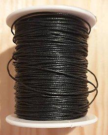 Iný materiál - Voskovaná bavlnená šnúrka (Čierna) - 11456803_