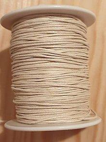 Iný materiál - Voskovaná bavlnená šnúrka (Biela) - 11456807_