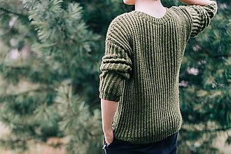 Svetre/Pulóvre - Pánsky sveter 100% prírodný materiál - 11455349_