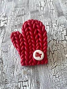 Odznaky/Brošne - štrikovaná rukavica - brošňa (bez patentu) - 11455609_