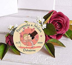 Darčeky pre svadobčanov - Svadobná magnetka - 11458862_