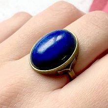 Sady šperkov - Lapis Lazuli & Bronze Set / Set šperkov s lazuritom v bronzovom prevedení (Prsteň) - 11459389_