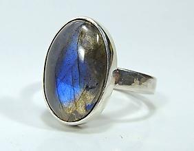 Prstene - Labradorit strieborný prsteň - 11460028_
