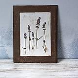 Obrázky - Obraz z lisovaných kvetov Levanduľa - 11459868_