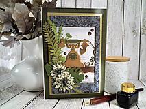 Papiernictvo - Vintage telefón pohľadnica - 11459329_