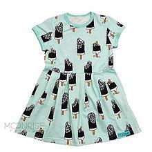 Detské oblečenie - BIO-šaty - Ice cream mint - 11458866_