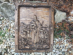 Obrazy - Ježiško s ovečkami - 11459823_