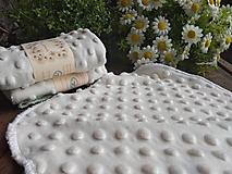 Úžitkový textil - Minky ubrúsok natur - 11460272_