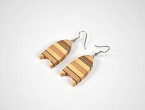 Náušnice - Náušnice drevené - chirurgická oceľ, orech, javor, jelša, mahagón... - 11457531_