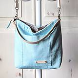 Veľké tašky - Veľká ľanová taška *pastel tyrkys* - 11458320_