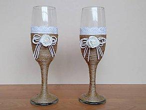 Nádoby - Svadobné poháre ❤️ - 11457977_