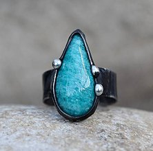 Prstene - Amazonit prsteň - 11460016_